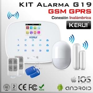 KIT Alarma Inalámbrica GSM + GPRS | G19