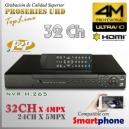 8032F-Q | 4M NVR XPROHD - 32CH x 4MP H265 H264, HDMI UHD, Sata x4, CMS