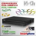 5216AN | XVR-HD 16Ch | 1080p@15fps | 720p@30fps | ProSeries HD | HIBRIDO