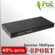 MidSpan Inyector POE 8 bocas (16 puertos) - 30W | Gigabit