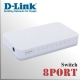 8 Puertos Switch D-Link 10/100Mbps   Plug & Play