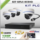 KPLC-8CH4D - KIT PLC HD NVR 8CH 4 cámaras720p HD