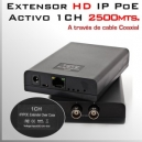 EoC Activo 2500m - Extensor IP (ethernet/red) vía cable Coaxial RG59-RG6