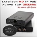 EoC Activo 2500m - Extensor IP (ethernet/red) vía cable Coaxial RG59-RG6