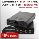 EoC Activo 2500m - Extensor IP 4CH (ethernet/red) vía cable RG59-RG6