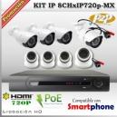 KIT IP 8 cámaras 720p HD - NVR PoE - P2P SmartPhone