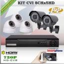 KCVI_8Chx5HD - KIT 5 cámaras XPROHD + CVR TRI-Hibrido 8CH