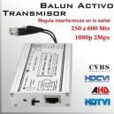Video Balun Activo Transmisor(Tx) 1080p 2Mpx - HD-CVI 500Mts.