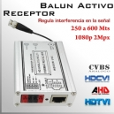 Video Balun Activo Receptor(Rx) 1080p 2Mpx - HD-CVI 500Mts.