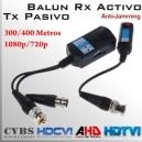 Video Balun Rx Activo + Tx Pasivo 1080p/720p 300/400Mts.