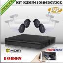 KCVI-K2MN4108B4D0V30E - KIT HD 1080N 4cámaras XPROHD CVR HIB de 8Ch