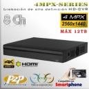 7208AN | 4MPx-CVR 8Ch | 4MPx@15fps Series Tri-Hibrido Máx 12TB