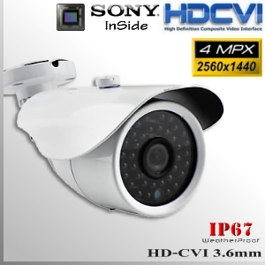 "Box CVI 4MP 1/2.8"" Sensor SONY IMX326 35 IR led - 3,6mm IP67"