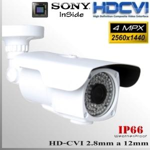 "Box CVI 4MP 1/2.8"" Sensor SONY IMX326 72 IR led 2,8-12mm Varifocal IP66"