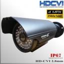 "Box CVI 4MP Hibrida 1/3"" Sensor CMOS-4MP 48 IR led - 2,8mm IP67"