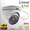 IP 4M DomeCam XPROHD 4MPx/18fps 2.8-12mm Onvif 2.0 PoE IR36