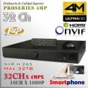 8432 | 4M NVR XPROHD - 32CH x4MP H265 H264, HDMI 4K, Sata x4(32TB), CMS