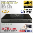 8216 | 4M NVR XPROHD - 16CH x4MP H265 H264, HDMI 4K, Sata x2(16TB), CMS