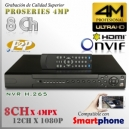 8208 | 4M NVR XPROHD - 8CH x4MP H265 H264, HDMI 4K, Sata x2(16TB), CMS