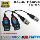 Video Balun Pasivo Tx + Rx 8MP | Multi-Tecnologia Analogica | Datos