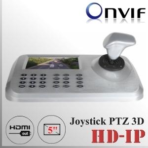 """Joystick 3D Pantall 5"""" cámaras PTZ-IP - NVR Serie CMS-xMeye"""