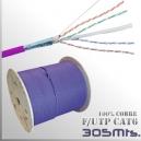 Cable F/UTP CAT6 - UTP 100%CU - LSZH 305Mts. Violeta