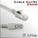 Cable UTP Cat5e 24AWG - 3Mts. Patch Cord