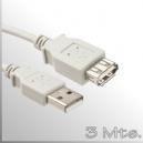 Extensión cable USB - 3 Mts.