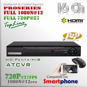 HD-ATCVR-6316 | HD-16Ch 2Audios | 1080N@12fps | 5en1 CMS