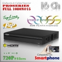 XVR 16Ch+ 2 IP HD 5en1 XPROHD 1080N@15fps HDMI VGA Satax1 Audiox1