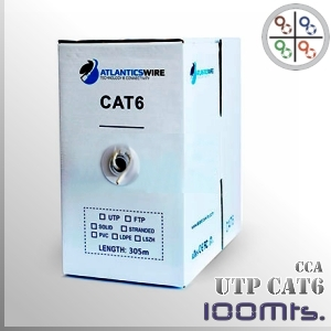 Cable UTP CAT6 CCA PVC 23AWG - 100 Mts.