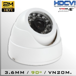 3650-2MP DomeCam IR Profesional Sensor 1080p 2Mp HD-CVI