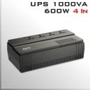 UPS APC 1000Va/600W 4 Tomas conexión Universal 220V
