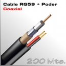 200 Mts. Cable RG59 con Alimentación