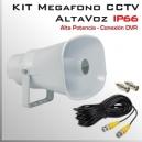 KIT MEGAFONO CCTV Activo | Altavoz | Alta Potencia | IP66