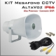 KIT MEGAFONO CCTV Activo | Altavoz | Alta Potencia para CCTV