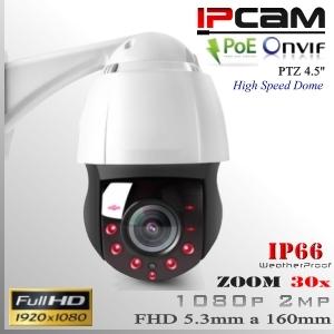 """IP2M-9312 - PTZ SpeedDome 30x 4.5"""" Sensor SONY FULLHD IR 150mts"""