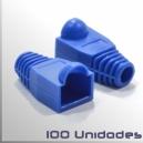Capuchon conector Macho RJ45, Azul, 100 Unidades