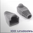 Capuchon conector Macho RJ45, Gris, 100 Unidades