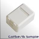 Roseta modulo simple para Keystone RJ45 CAT5e CAT6