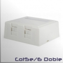 Roseta modulo doble para Keystone RJ45 CAT5e CAT6