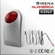 Sirena alámbrica con luz estroboscópica y sonido | Compatible KERUI