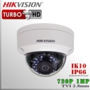 Hikvision Turbo HD DomeCam 720p IR Sensor CMOS 1Mp 2.8mm