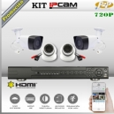 KIT IP NVR8Ch 4 cámaras MIX 720p HD PoE P2P