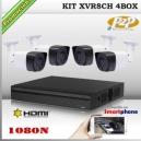 KCVI-K2MNXVR08B4D0 - KIT HD 1080N 4cámaras XPROHD CVR HIB de 8Ch