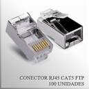 Conector RJ45 CAT5 FTP Macho x 100 unidades