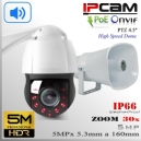 "KIT Altavoz + PTZ IP5M-9315 SpeedDome 30x 4.5"" Sensor CMOS 5MP IR 150mts"