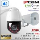 """KIT Altavoz + PTZ IP2M-9312 SpeedDome 30x 4.5"""" Sensor SONY FULLHD IR 150mts"""