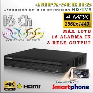 XVR-HD 16Ch+8IP +AlarmaIN | 5/4MpxN@15fps | 1080p@15fps ProSeries 5en1