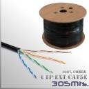 Cable UTP CAT5e Exterior 100% Cobre Unifilar - 305 Mts.